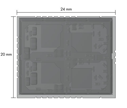 Schematic drawing Embedded IO-Link Wireless Master Module